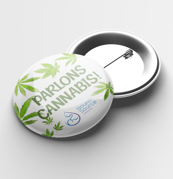 Macaron du projet Parlons Cannabis